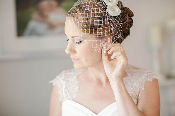 Makeup and Birdcage veil created by me